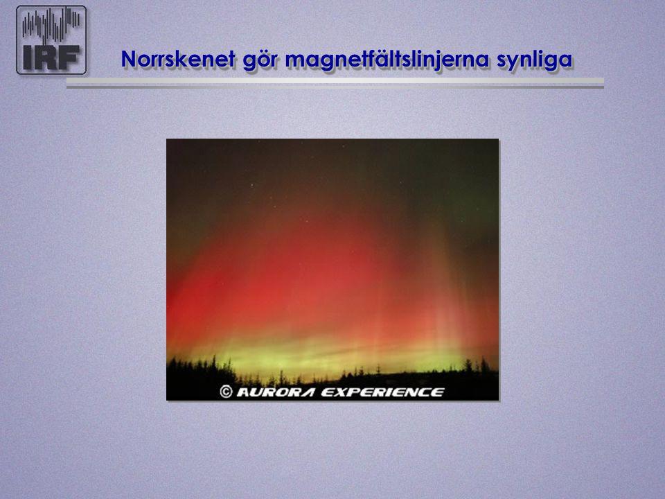 Norrskenet gör magnetfältslinjerna synliga