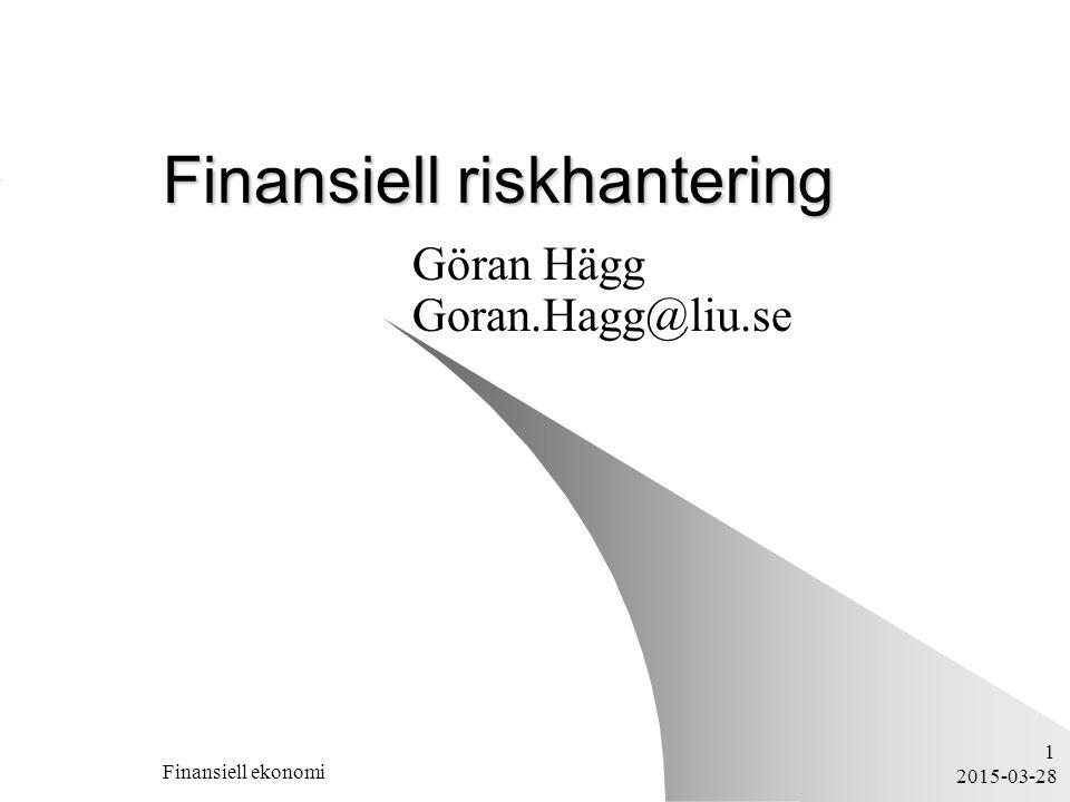 Finansiell riskhantering