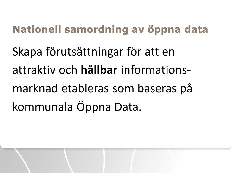 Nationell samordning av öppna data