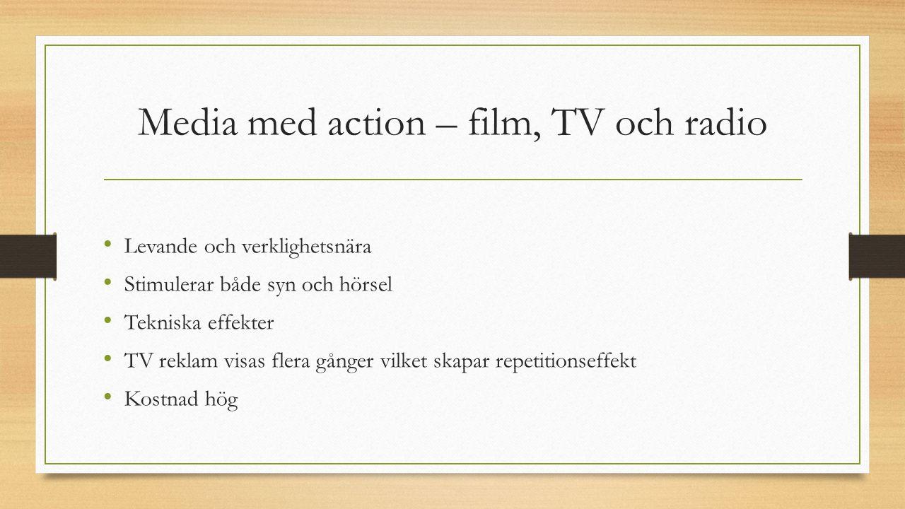 Media med action – film, TV och radio