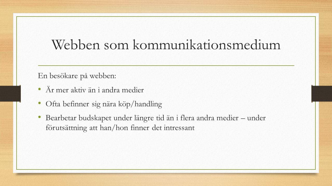 Webben som kommunikationsmedium