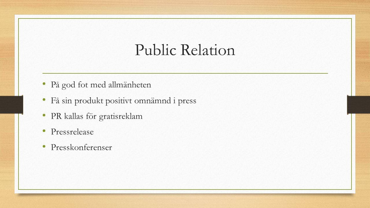 Public Relation På god fot med allmänheten