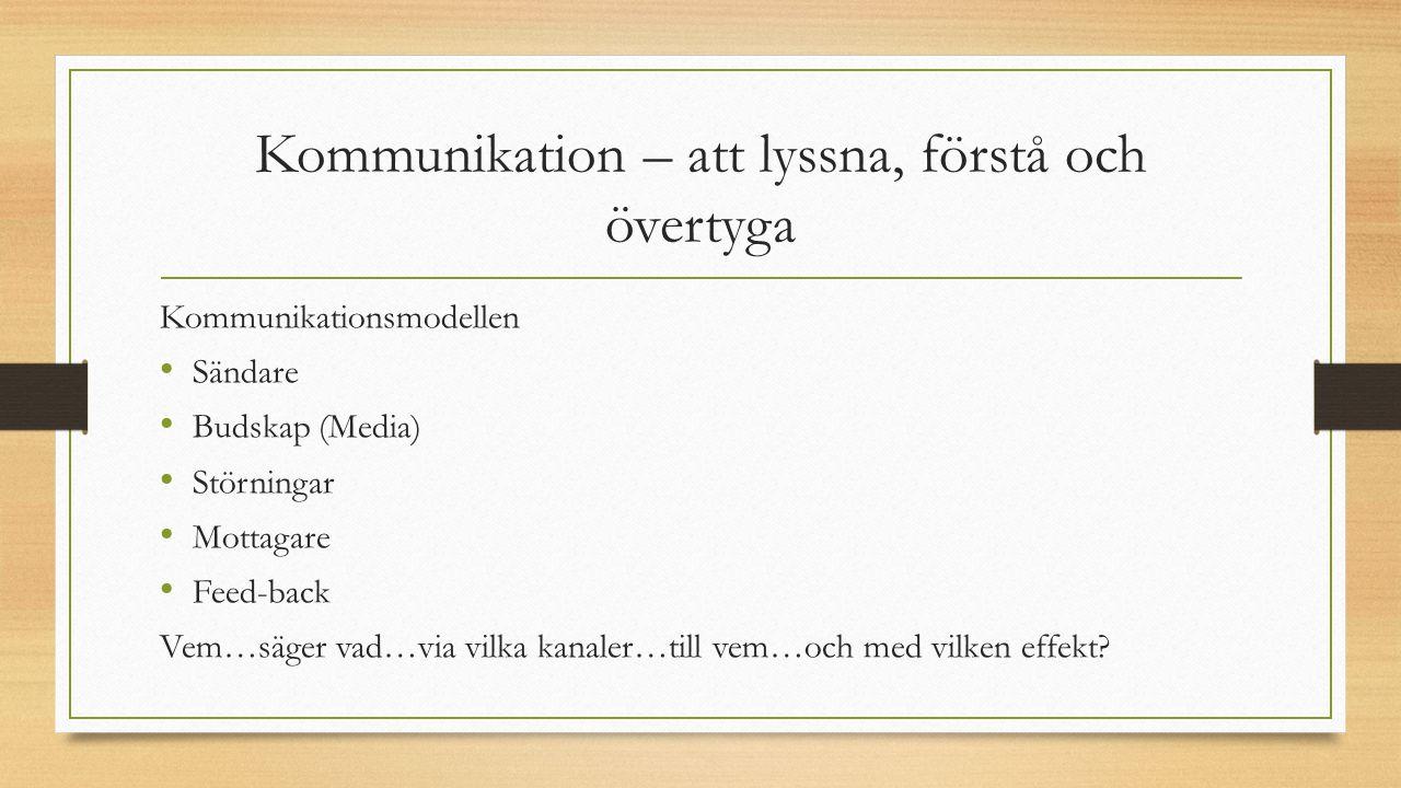 Kommunikation – att lyssna, förstå och övertyga