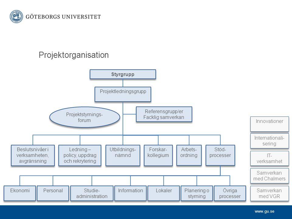 Projektorganisation Styrgrupp Projektledningsgrupp