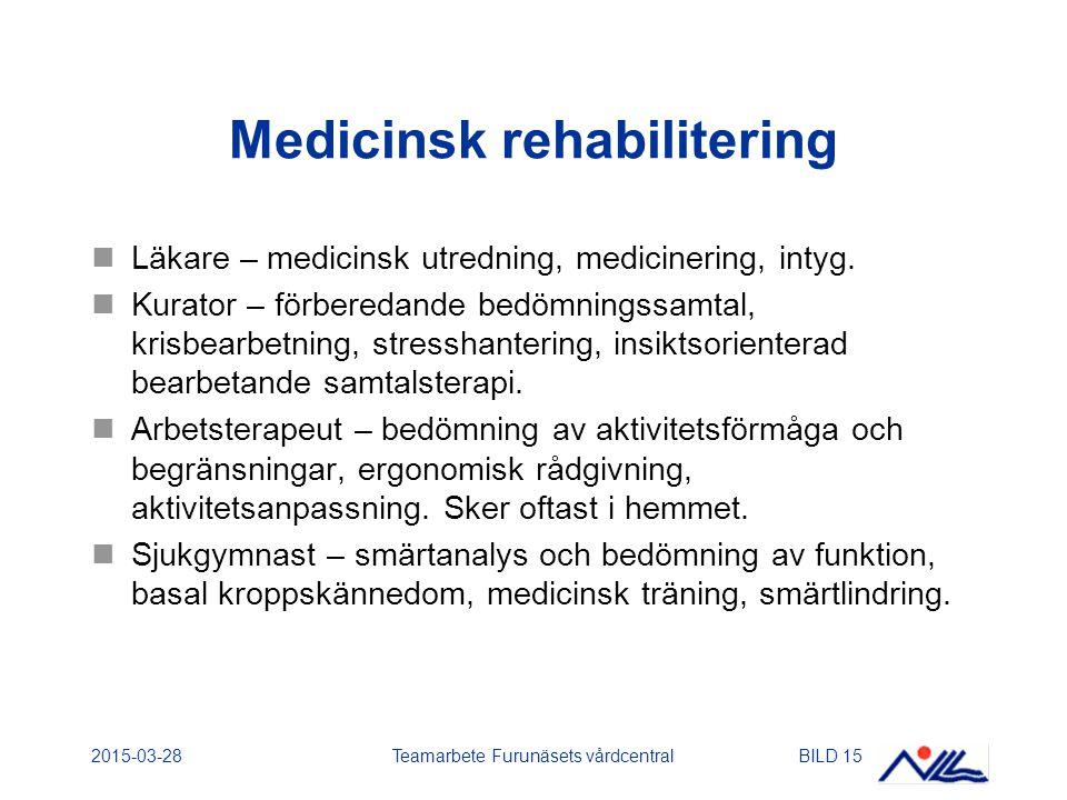 Medicinsk rehabilitering