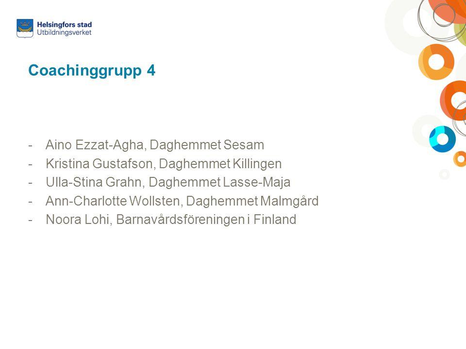 Coachinggrupp 4 Aino Ezzat-Agha, Daghemmet Sesam