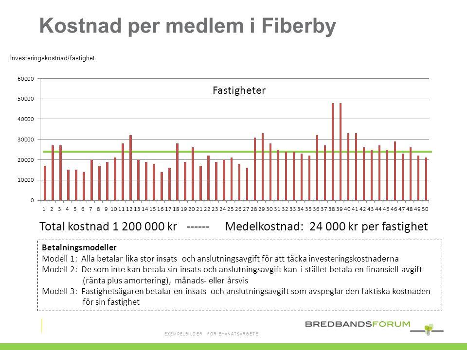 Kostnad per medlem i Fiberby