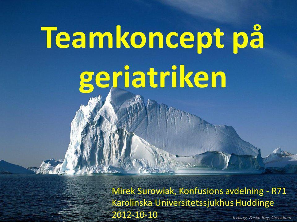 Teamkoncept på geriatriken