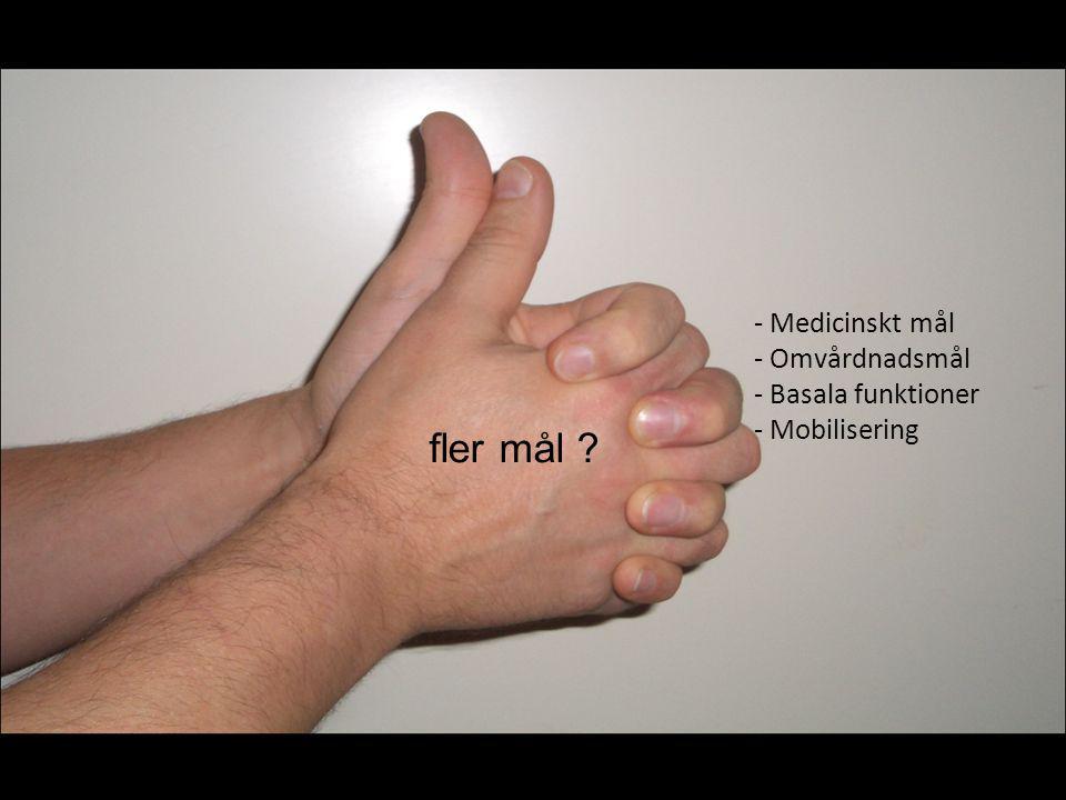 fler mål - Medicinskt mål - Omvårdnadsmål - Basala funktioner