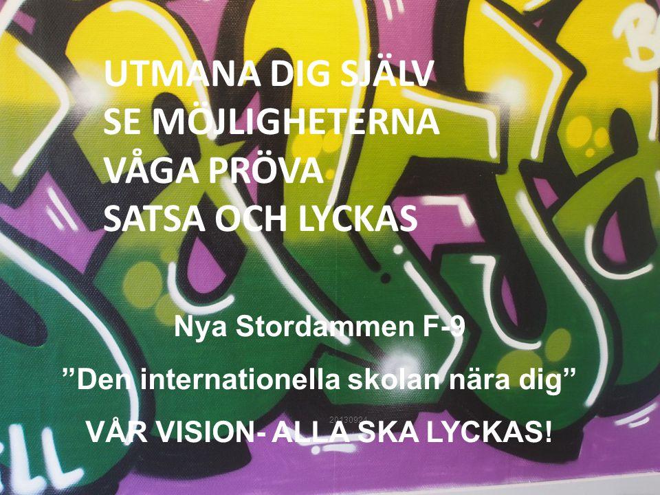 Den internationella skolan nära dig VÅR VISION- ALLA SKA LYCKAS!