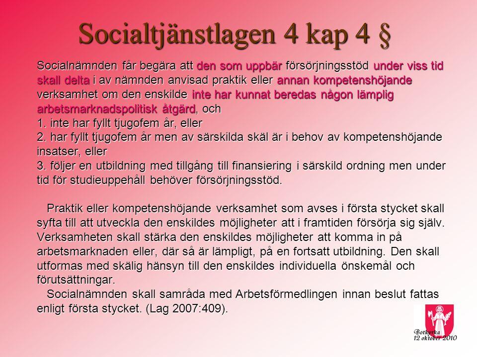 Socialtjänstlagen 4 kap 4 §