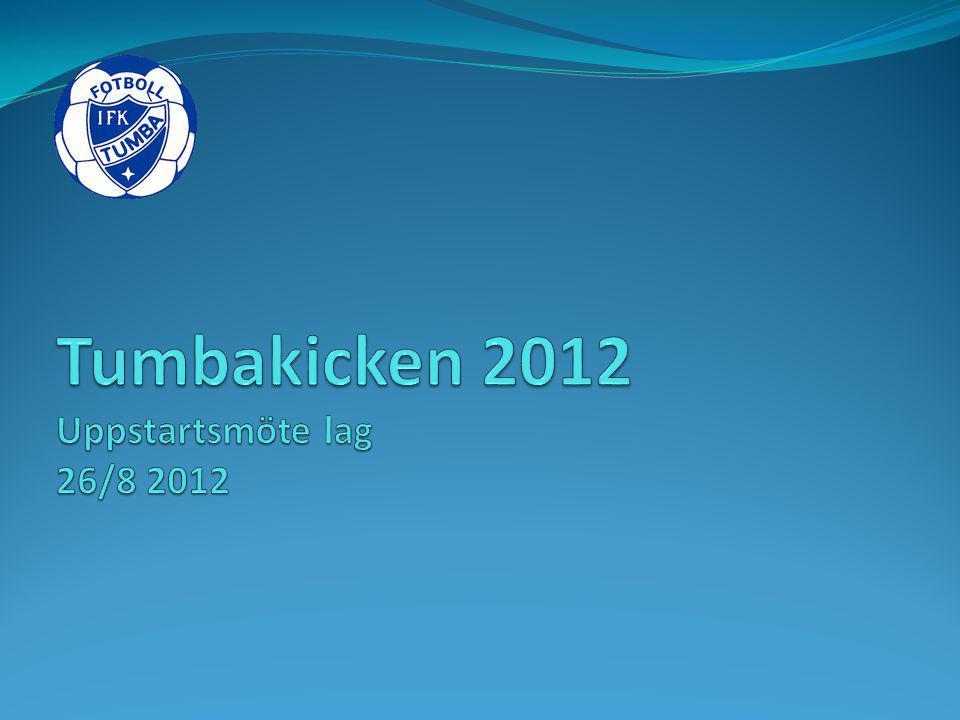 Tumbakicken 2012 Uppstartsmöte lag 26/8 2012