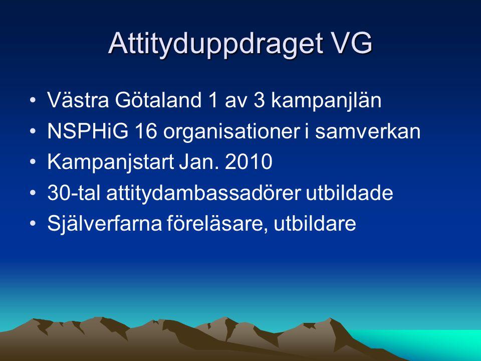Attityduppdraget VG Västra Götaland 1 av 3 kampanjlän