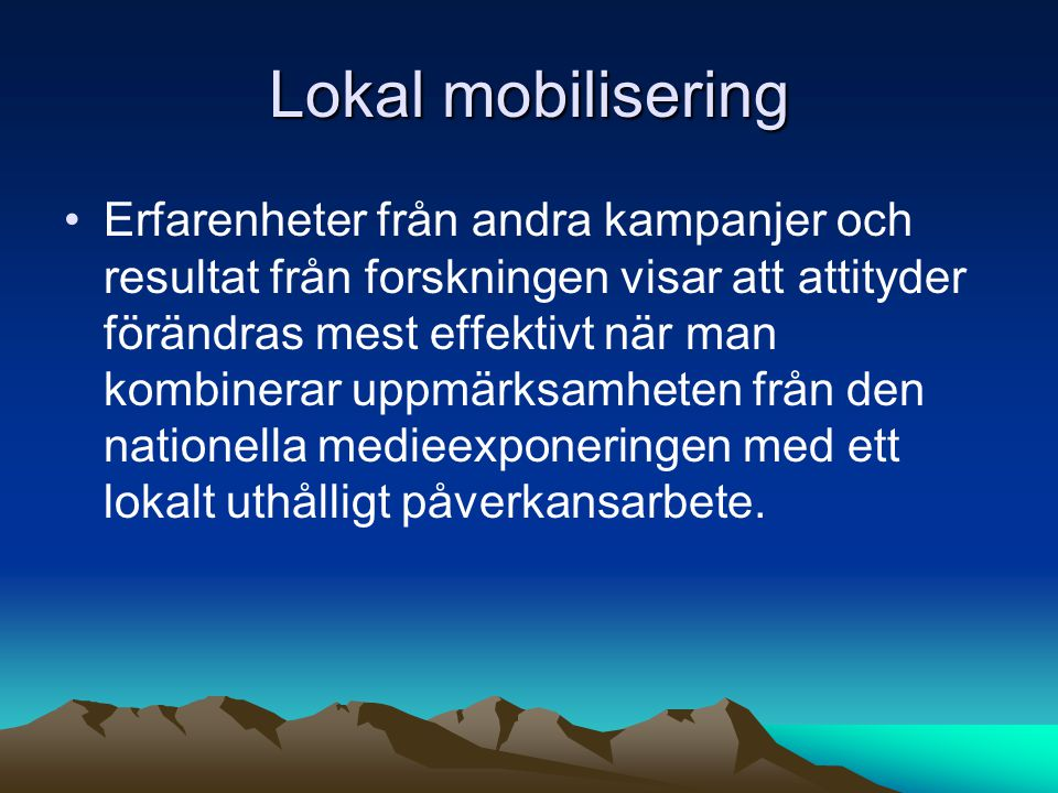 Lokal mobilisering