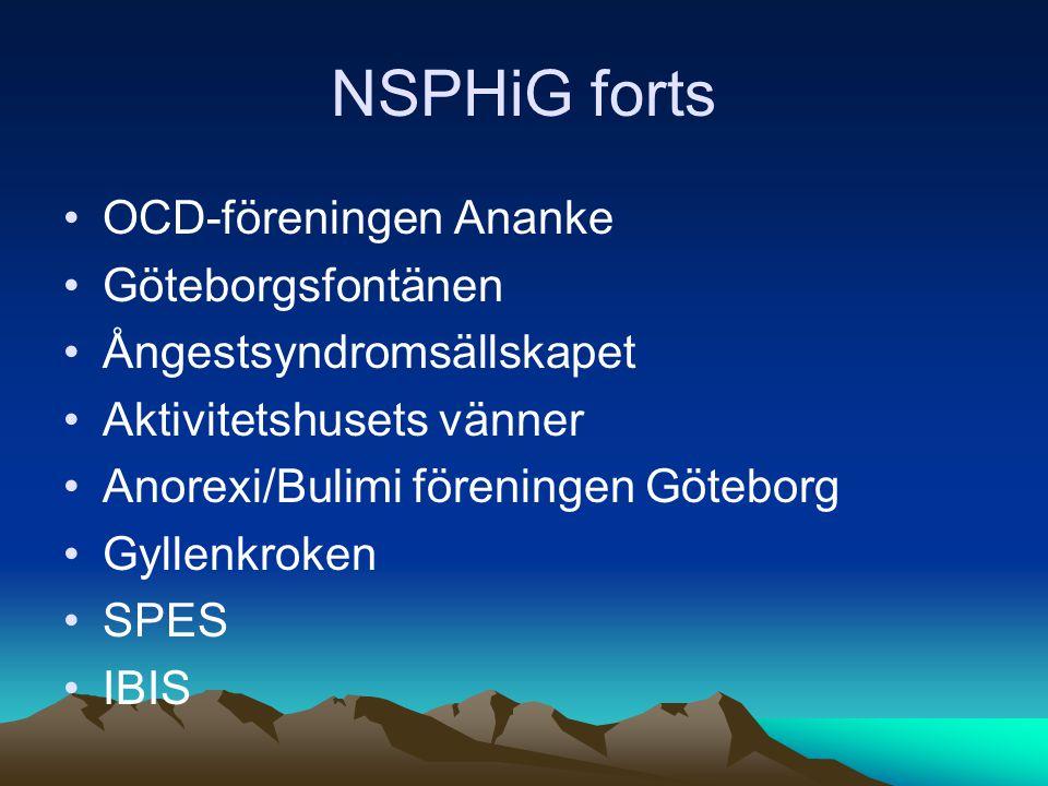 NSPHiG forts OCD-föreningen Ananke Göteborgsfontänen