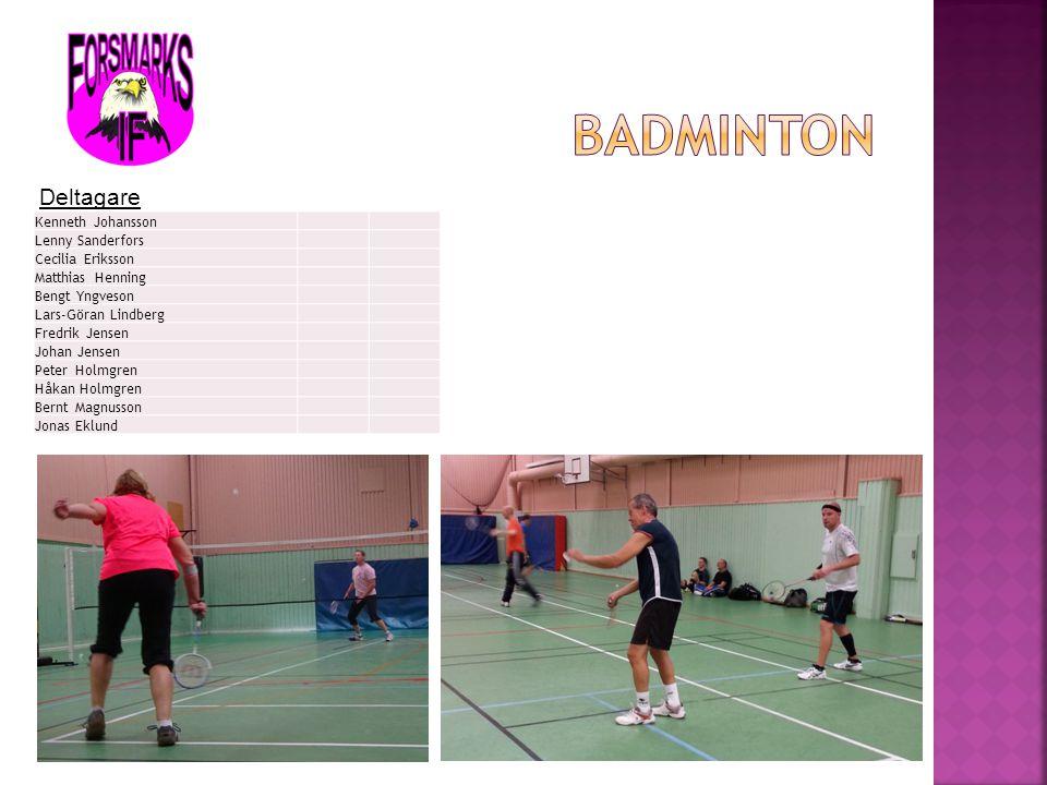 Badminton Deltagare Kenneth Johansson Lenny Sanderfors