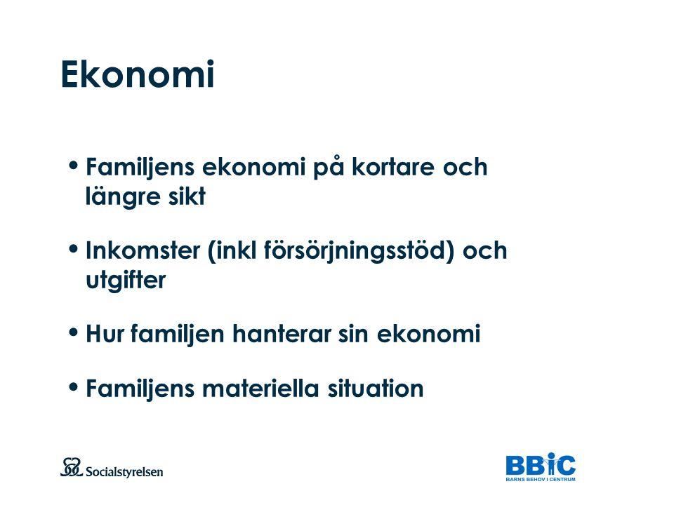 Ekonomi Familjens ekonomi på kortare och längre sikt