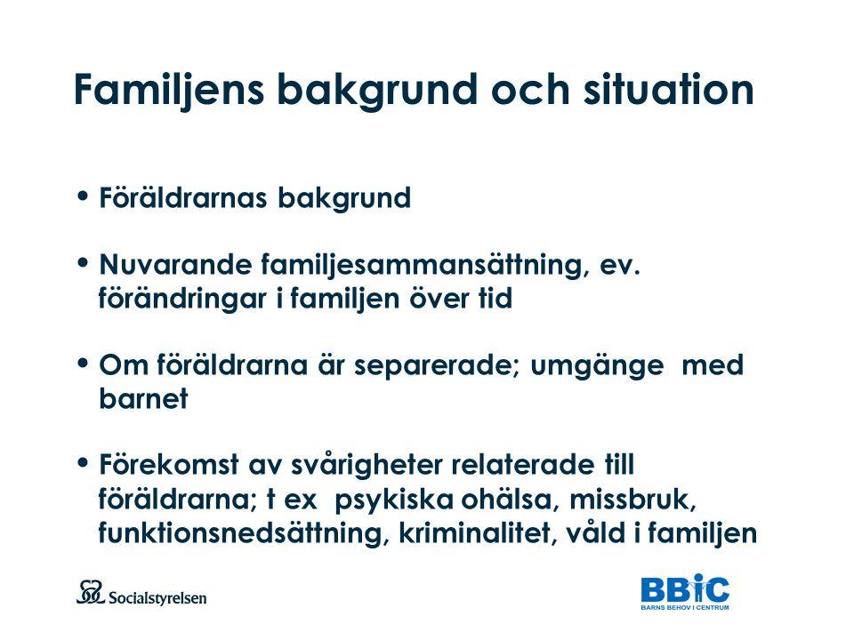 Familjens bakgrund och situation