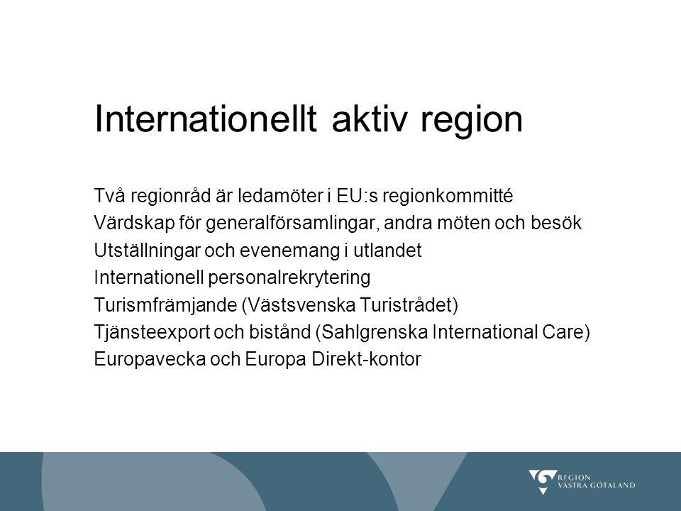 Internationellt aktiv region