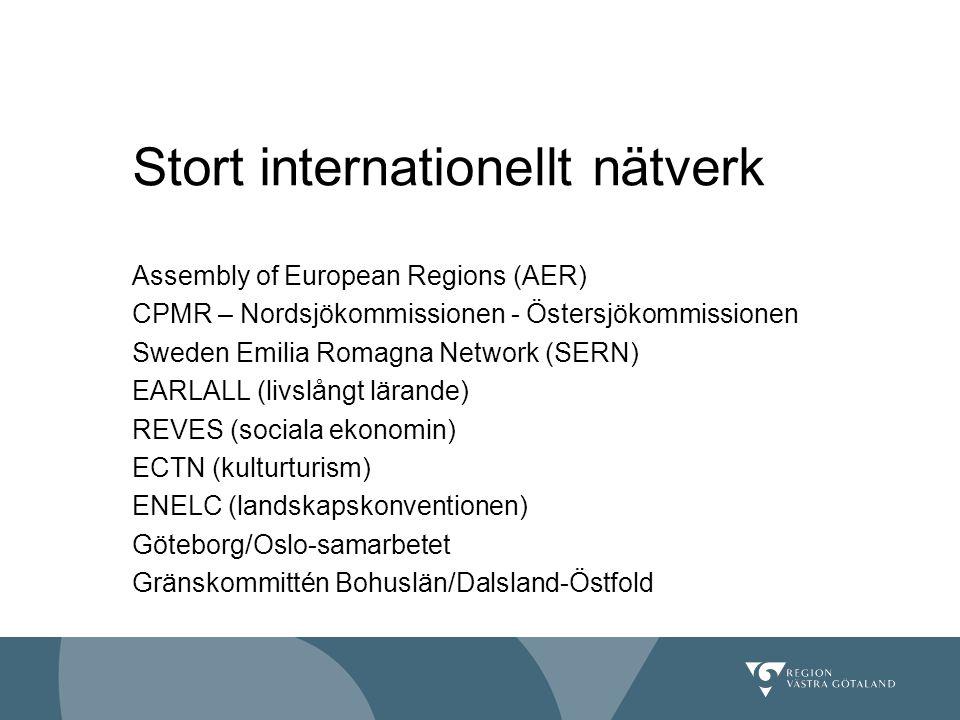 Stort internationellt nätverk