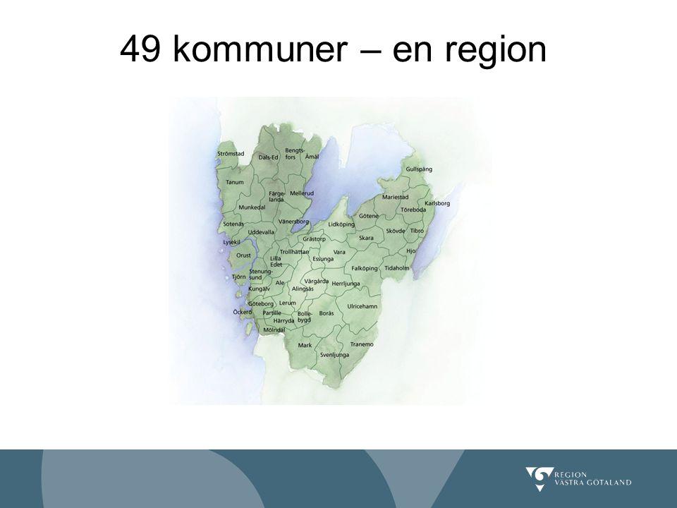 49 kommuner – en region