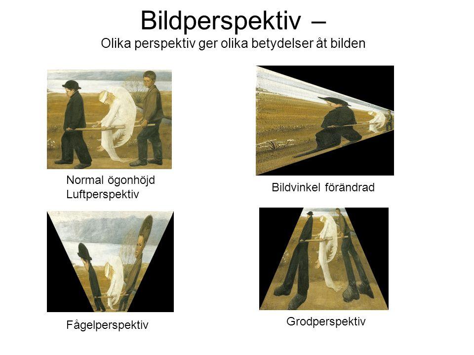 Bildperspektiv – Olika perspektiv ger olika betydelser åt bilden