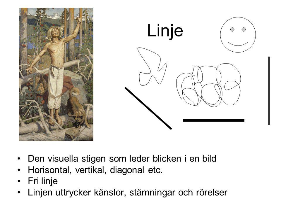 Linje Den visuella stigen som leder blicken i en bild