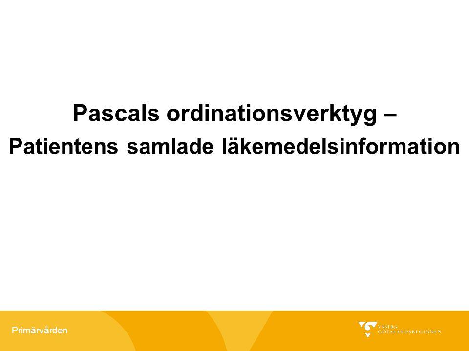 Pascals ordinationsverktyg – Patientens samlade läkemedelsinformation
