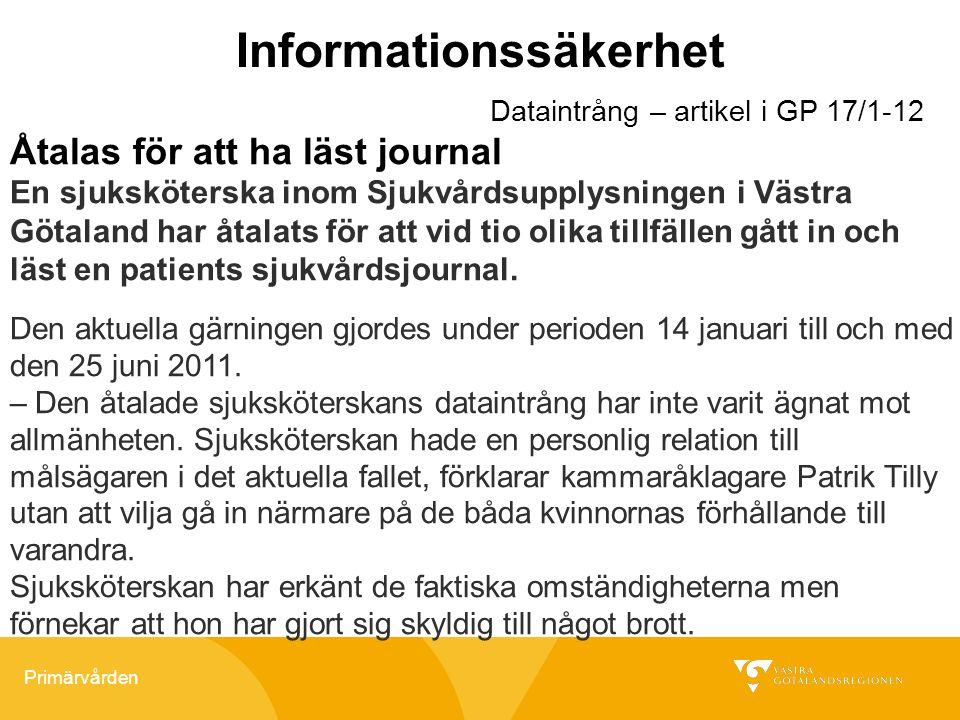 Informationssäkerhet
