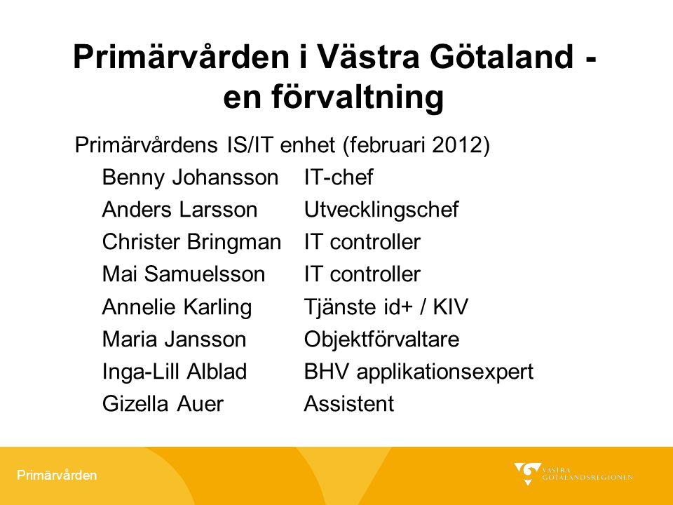 Primärvården i Västra Götaland - en förvaltning