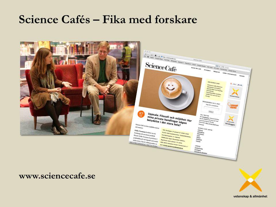 Science Cafés – Fika med forskare
