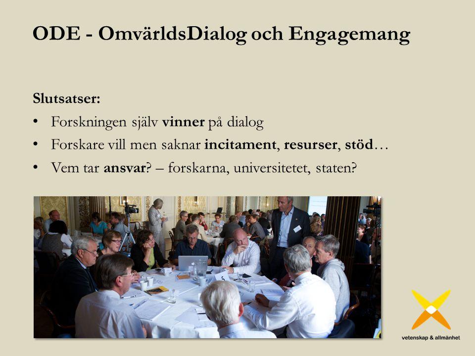 ODE - OmvärldsDialog och Engagemang