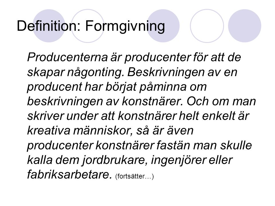 Definition: Formgivning