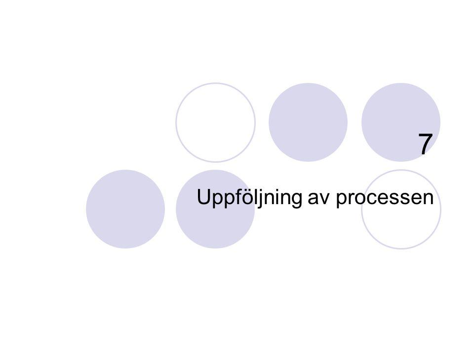 Uppföljning av processen