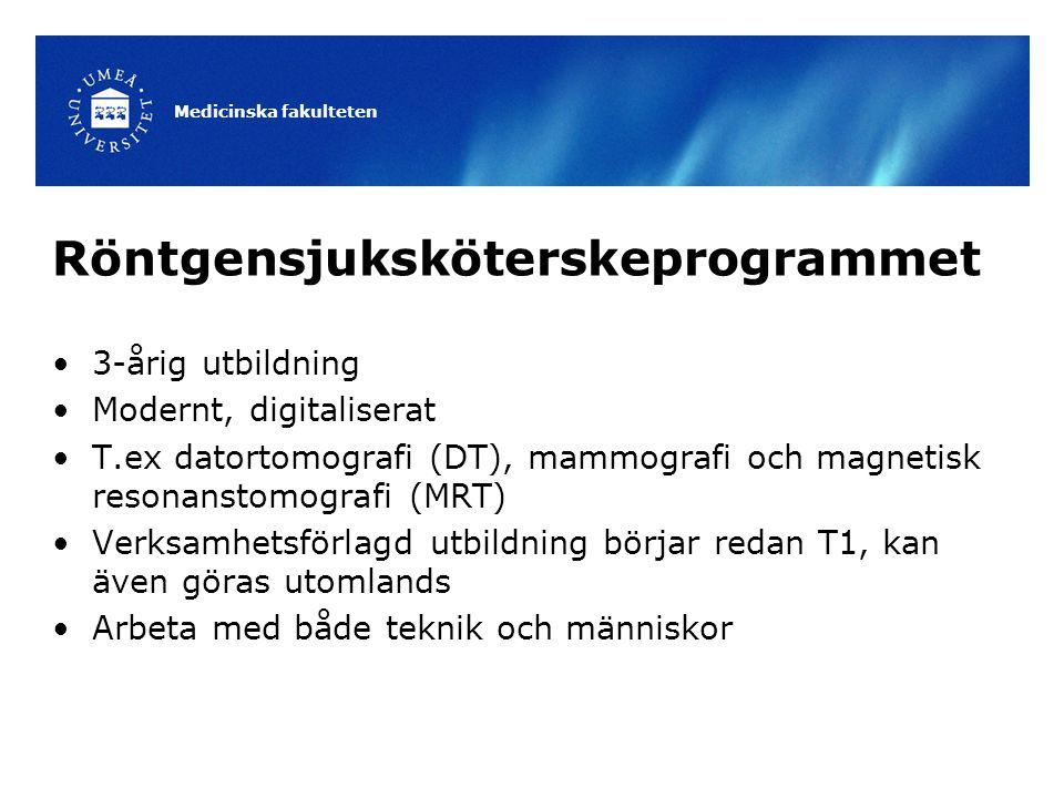 Röntgensjuksköterskeprogrammet