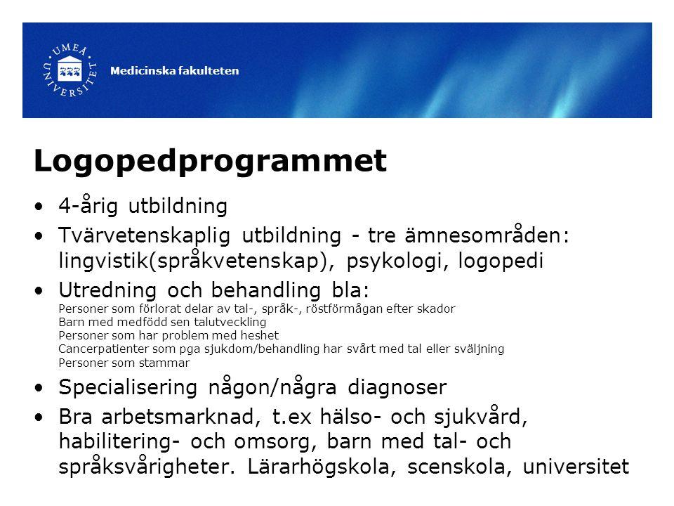 Logopedprogrammet 4-årig utbildning
