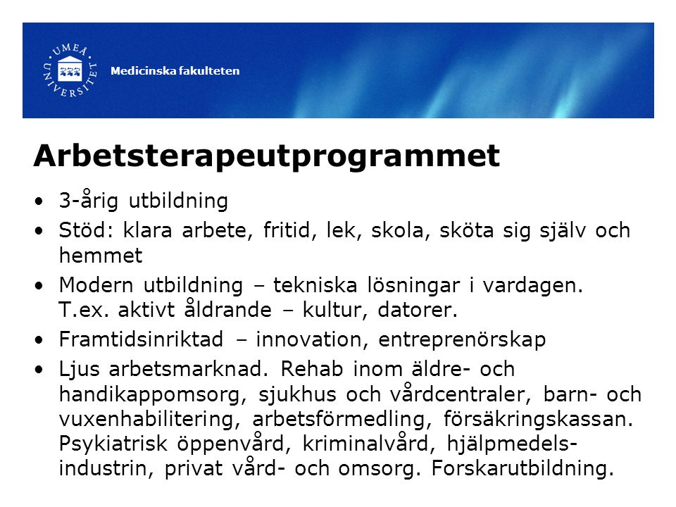 Arbetsterapeutprogrammet