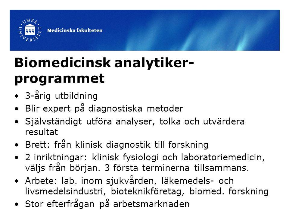 Biomedicinsk analytiker- programmet