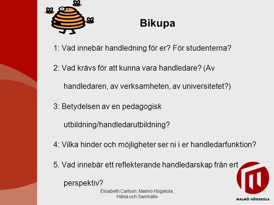 Elisabeth Carlson, Malmö Högskola. Hälsa och Samhälle