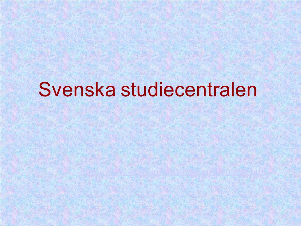 Svenska studiecentralen