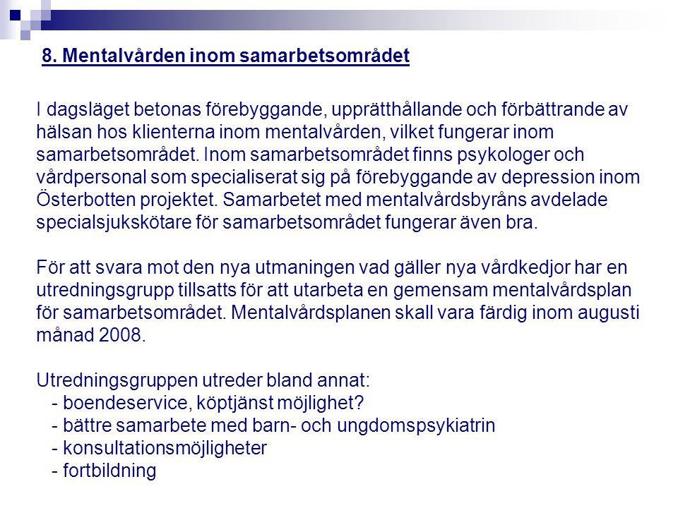 8. Mentalvården inom samarbetsområdet