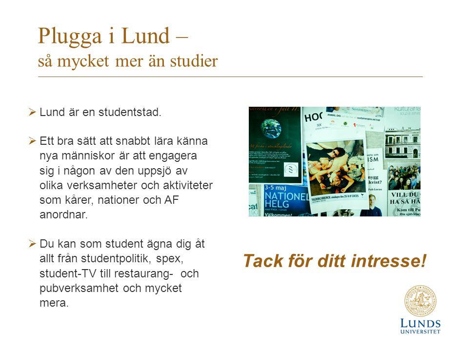 Plugga i Lund – så mycket mer än studier