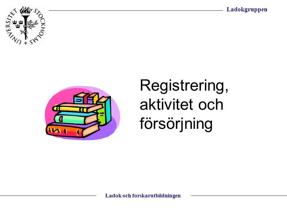 Registrering, aktivitet och försörjning