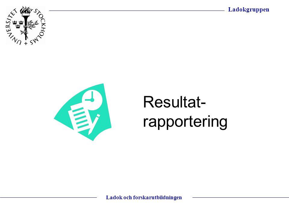 Resultat-rapportering