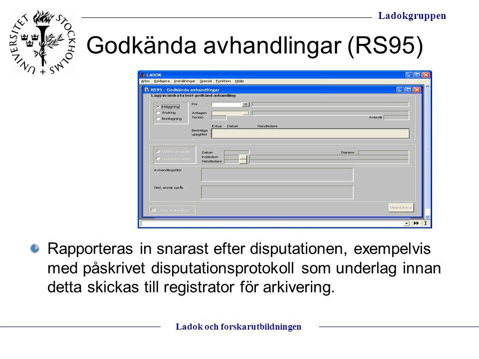 Godkända avhandlingar (RS95)