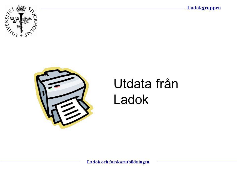Utdata från Ladok