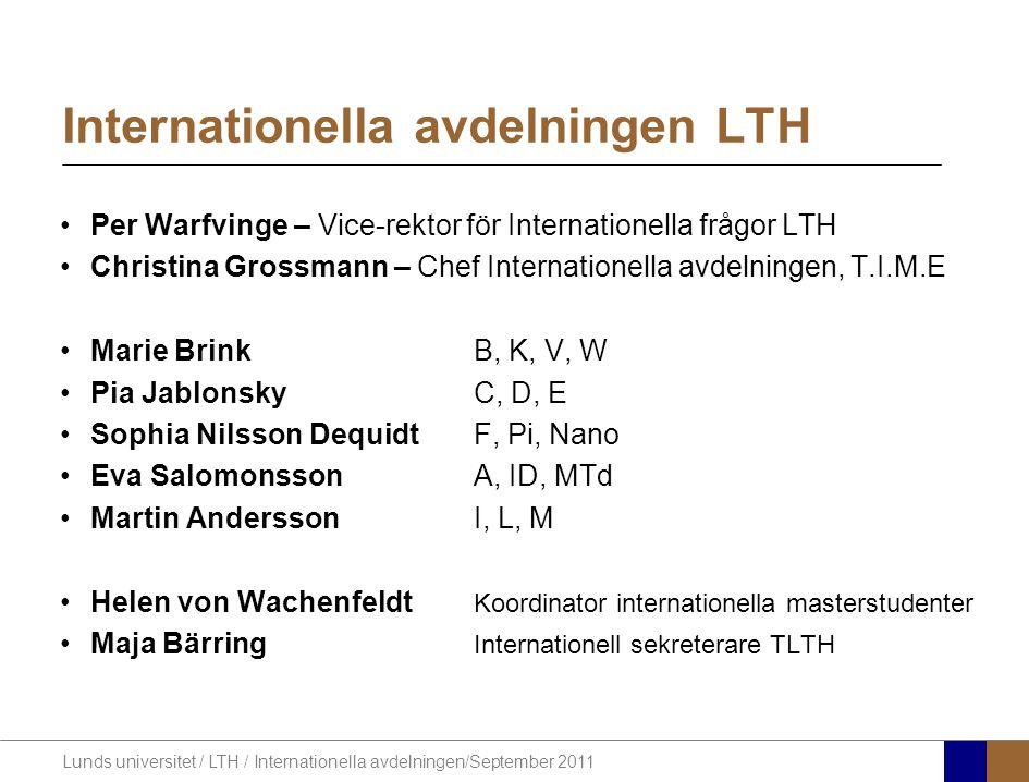 Internationella avdelningen LTH