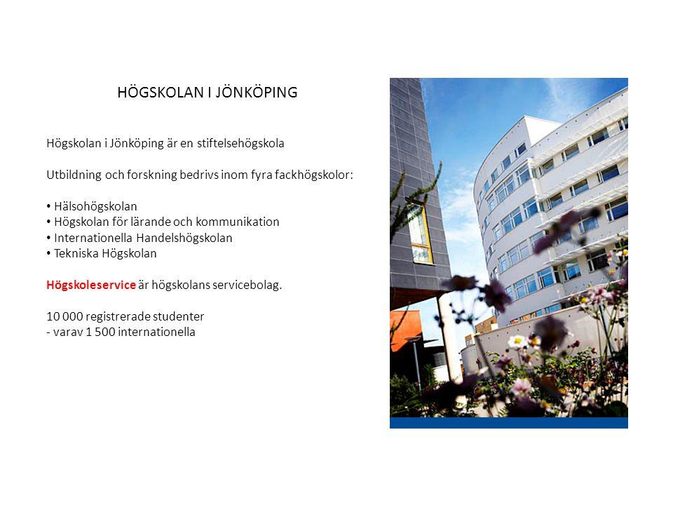 HÖGSKOLAN I JÖNKÖPING Högskolan i Jönköping är en stiftelsehögskola