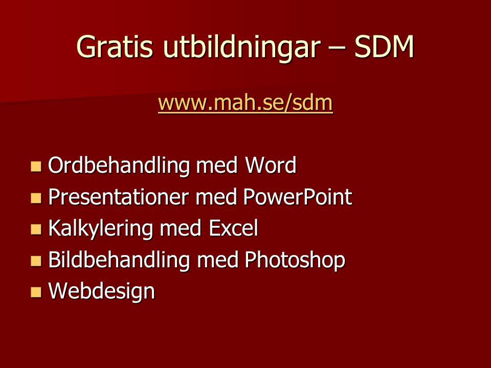 Gratis utbildningar – SDM