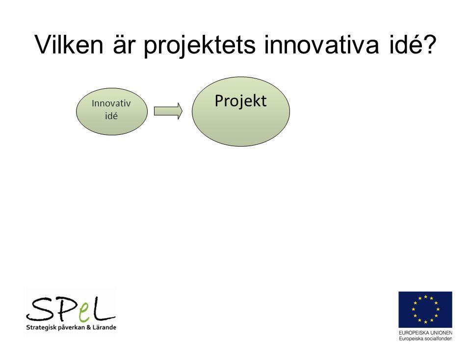 Vilken är projektets innovativa idé